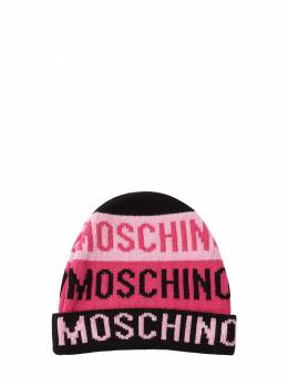 Полушерстяная Шапка С Интарзийным Логотипом Moschino 72I8ZN156-ODQ1OTI1
