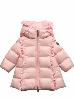 Hooded Nylon Down Coat Il Gufo 72I8ZB003-MzEw0