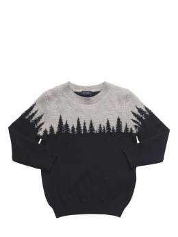Mountain Intarsia Wool Knit Sweater Il Gufo 72I8ZC023-NDkwNw2