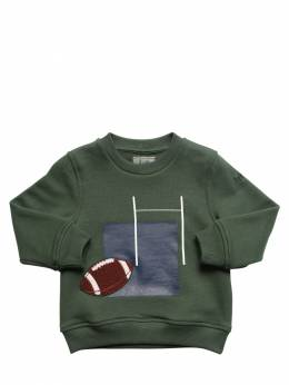 Rugby Print Cotton Sweatshirt W/ Patch Il Gufo 72I8ZC040-NTg0OQ2