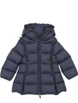 Hooded Nylon Down Coat Il Gufo 72I8ZB003-NDk10