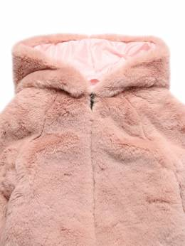 Hooded Faux Fur Jacket Il Gufo 72I8Z9115-MzM00