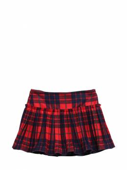 Pleated Tartan Skirt Il Gufo 72I8Z9087-Mzc30