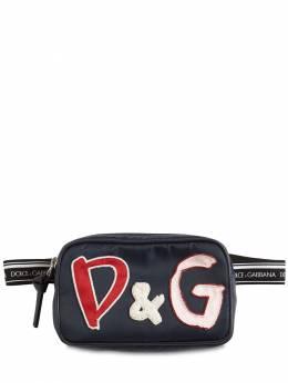 Сумка На Пояс Из Нейлона С Логотипом Dolce&Gabbana 72I8YQ006-ODA2NTA1