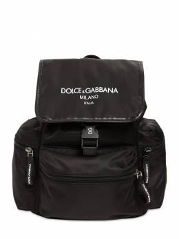 Рюкзак Из Нейлона С Принтом Логотипа Dolce&Gabbana 72I8YQ050-ODA5OTk1