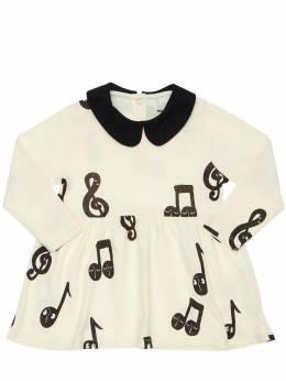 Платье Из Органического Хлопка Mini Rodini 72I8YH036-T0ZGIFdISVRF0