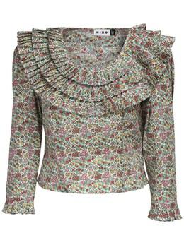 Рубашка Из Хлопка С Принтом Rixo 72I7PV021-RFJJVklORyBNSVNTIERB0