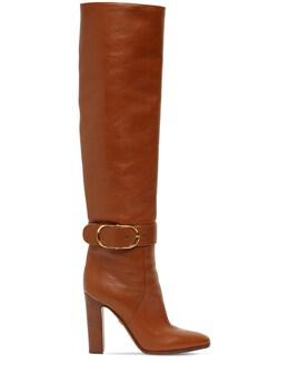 Кожаные Сапоги 105mm Dolce&Gabbana 72I82T009-ODAxMDA1