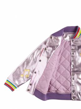 Куртка-бомбер Из Искусств. Ламинированной Кожи Stella McCartney Kids 72I6SH008-NTU2Ng2