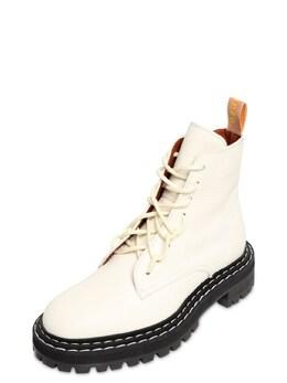 Кожаные Ботинки-комбат 30mm Proenza Schouler 72I82B007-MTIxMTM1