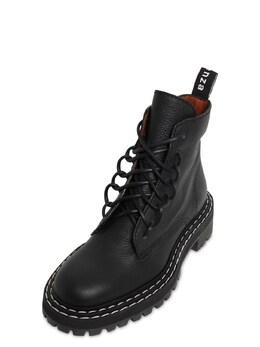 Кожаные Ботинки-комбат 30mm Proenza Schouler 72I82B007-MTIxMTA1