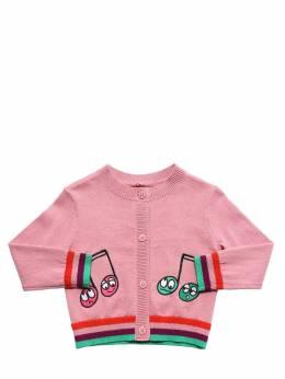 Кардиган Из Полухлопкового Трикотажа Stella McCartney Kids 72I6SG012-NTY2MQ2
