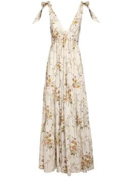 Платье С Принтом Из Хлопка Поплин Brock Collection 72I5V4001-MTAy0