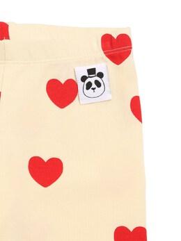 Heart Print Lyocell Leggings Mini Rodini 72I8YH033-T0ZGIFdISVRF0