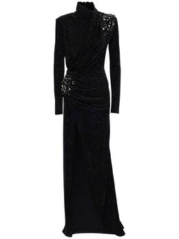 Блестящее Бархатное Длинное Платье С Вышивкой Redemption 72I5CA010-MTA2NQ2