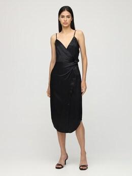 Платье Из Шёлкового Атласа Alexander Wang 72I5BR003-MDAx0