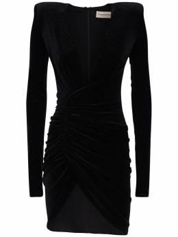 Короткое Платье Стрейч С Драпировкой Alexandre Vauthier 72I5BH048-QkxBQ0s1