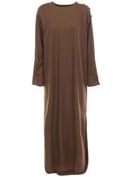 Платье Из Шерстяного Габардина Max Mara 72I50P020-MDA00