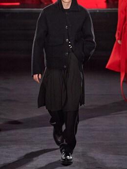 Deconstructed Wool & Cashmere Jacket Ami Alexandre Mattiussi 72I3J5003-MDAx0