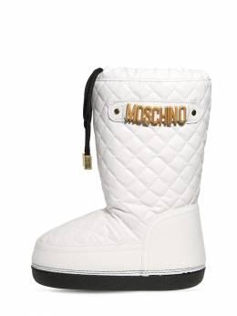 Quilted Nylon Snow Boots Moschino 72I1W4002-VkFSIDI1