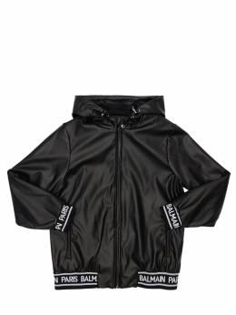 Куртка Из Искусственной Кожи С Капюшоном Balmain 72I1VJ003-OTMw0