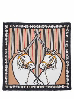 Unicorn Print Cotton & Silk Scarf Burberry 72I1VI030-QTcwMjY1