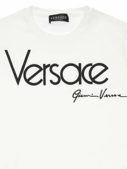 Футболка Из Хлопкового Джерси С Логотипом Versace 72I2H0006-QTEwMDI1