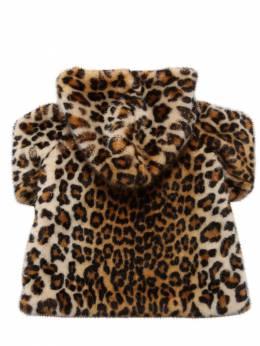 Leopard Print Faux Fur Coat Monnalisa 72I1W8001-ODA0Mw2