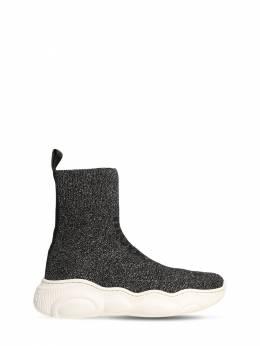 Glittered Knit Sock Sneakers Moschino 72I1W4026-VkFSIDM1