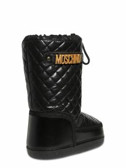 Quilted Nylon Snow Boots Moschino 72I1W4002-VkFSIDE1