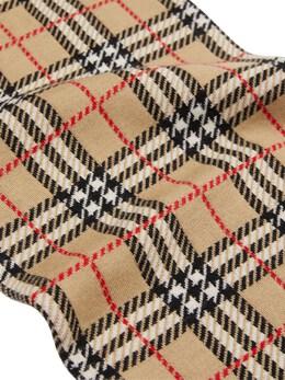 Leopard & Check Print Wool Scarf Burberry 72I1VI025-QTgwNDk1