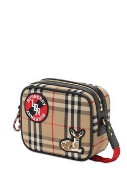 Check Cotton Blend Camera Bag Burberry 72I1VI015-QTcwMjg1