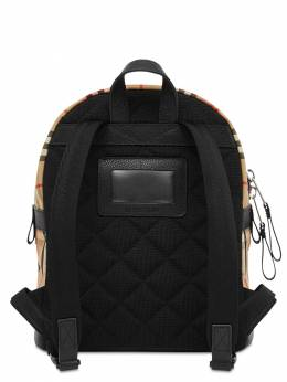 Check Cotton Canvas Backpack Burberry 72I1VI014-QTcwMjY1
