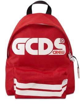 Рюкзак Из Нейлонового Канвас С Принтом Логотипа GCDS 72I1V6021-MDQw0