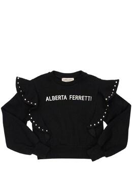 Свитшот Из Хлопка С Заклёпками Alberta Ferretti 72I1V4010-MTEw0