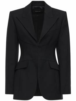 Пиджак Из Шерстяной Саржи Mugler 72I1KT027-MTk5OQ2