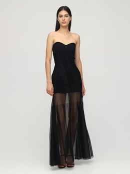 Длинное Трикотажное Платье Mugler 72I1KT019-MTk5OQ2