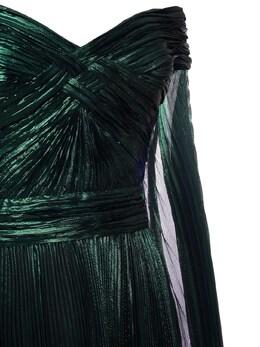 Pleated Lurex Long Dress Zuhair Murad 72I0HI001-MTk2MDI20