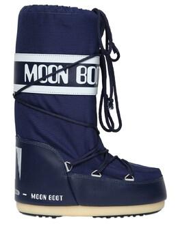 """Сапоги """"classic"""" Из Непромокаемого Нейлона Moon Boot 72I0HE001-MDAy0"""
