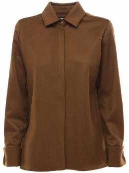 Фланелевая Рубашка Из Верблюжей Шерсти Max Mara 72I50P031-MDA50