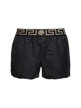 Плавательные Шорты Из Нейлона Versace Underwear 72I0CL013-QTgwRw2