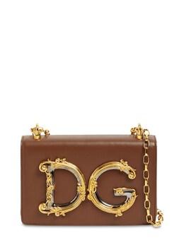 Dg Girls Barocco Leather Shoulder Bag Dolce&Gabbana 72I0CE009-OE4xMjg1
