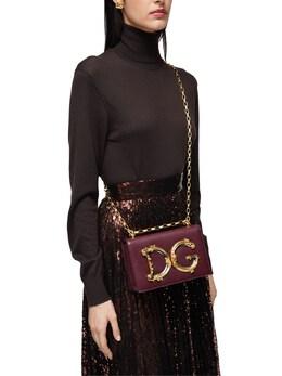 Dg Girls Barocco Leather Shoulder Bag Dolce&Gabbana 72I0CE009-ODAzNDM1
