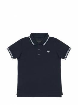 Рубашка-поло Из Хлопка Пикé Emporio Armani 71IWJU036-MDkzOQ2