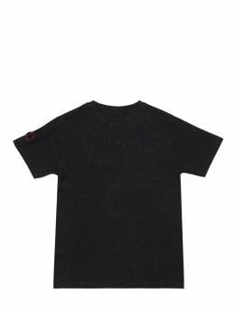 Ufo Printed Cotton Jersey T-shirt Fabric Flavours 71IWWO025-QkxLIFNQRUNLTEU1