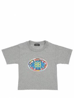 Logo Print Cotton Jersey T-shirt Balenciaga 71IWKI016-MTI0MQ2