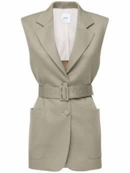 Fitted Cashmere Blend Vest W/ Belt Agnona 71IWEJ015-OTIy0