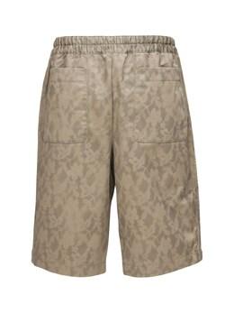 Stencil Print Cotton Twill Shorts Comme Des Garcons Shirt 71IJRN015-MQ2