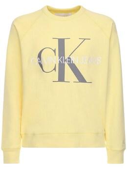 Хлопковый Свитшот С Принтом Логотипа Calvin Klein Jeans 71I26B010-WkhI0
