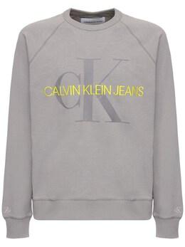Хлопковый Свитшот С Принтом Логотипа Calvin Klein Jeans 71I26B010-UFM30